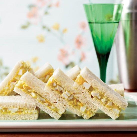 Curried Egg Tea Sandwiches