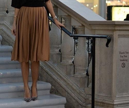 High Waisted Midi Skirts