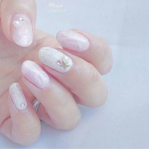 finger, nail, nail care, pink, nail polish,
