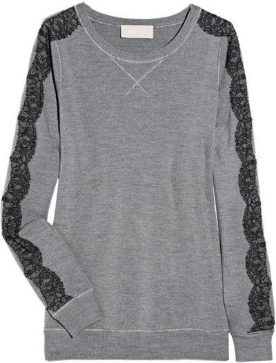 Jason Wu Lace Trimmed Wool Sweater