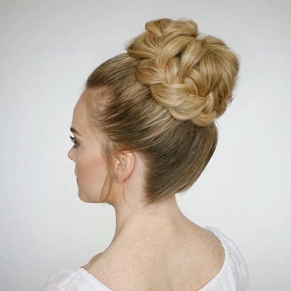 hair, hairstyle, long hair, bun, bangs,