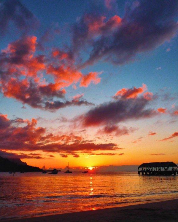 Sky, Afterglow, Horizon, Sunset, Cloud,