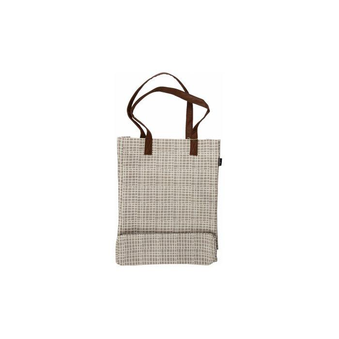 Maika Market Tote Bag, Woven Grey