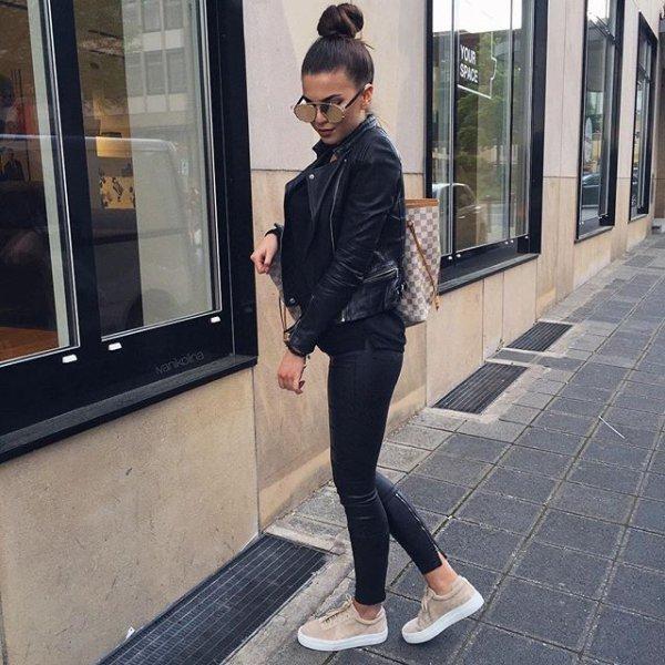 black, clothing, footwear, road, human positions,