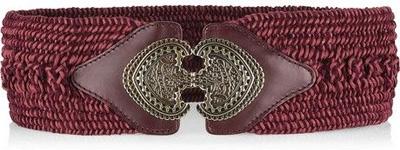 Etro Wide Woven Cotton-Blend Belt