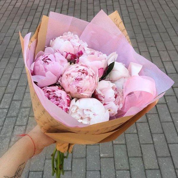 flower, pink, flower bouquet, plant, peony,