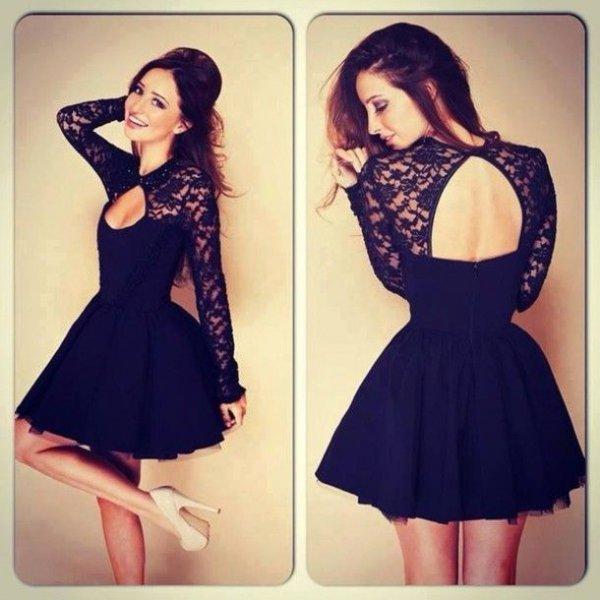 Keyhole Black Dress