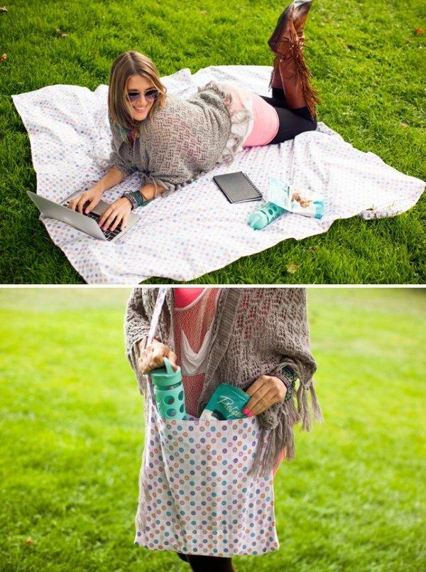 Picnic Blanket Tote