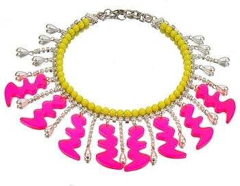 Issy Salamon Neon Squiggle Necklace