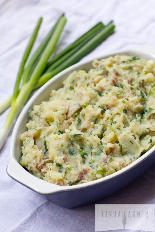 Garlic & Herb Smashed Potatoes