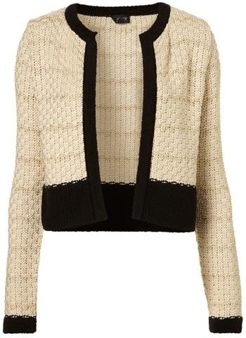 Knitted Lurex Stripe Jacket