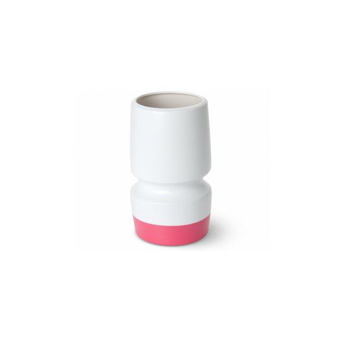 Present Time Pink Dipped Ceramic Totem Vase
