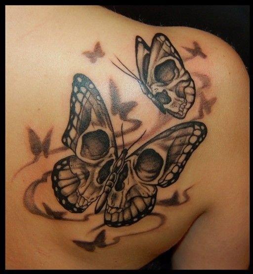 Butterfly Girl Skull