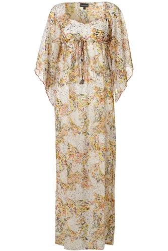 Topshop Cream Kimono Sleeve Maxi Cover up