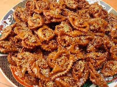 Chebakia - Mkharka Moroccan Sesame and Honey Cookies