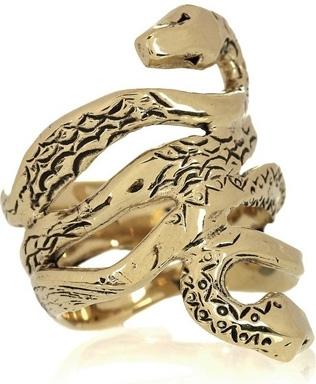 Aurelie Bidermann Mamba 18-karat Gold-plated Snake Ring