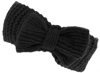 Dorothy Perkins Black Knitted Bow Headband