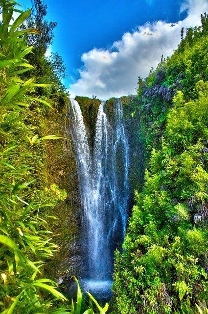 Secret Waterfall in Papaaea Ahupua`a, Haiku, Maui