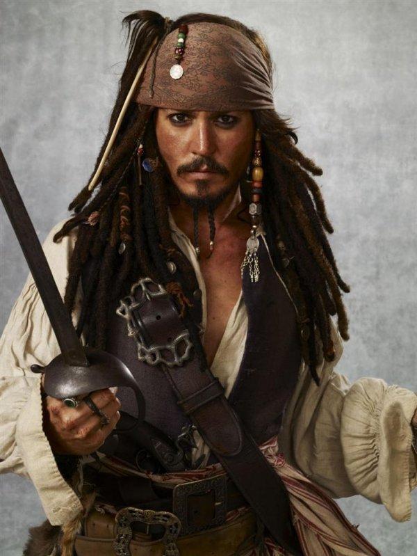 Johnny Depp Playing Cap'n Jack Sparrow