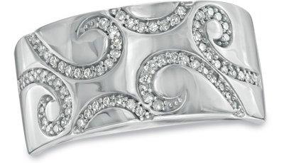 1/4 Carat Diamond Paisley Wedding Band
