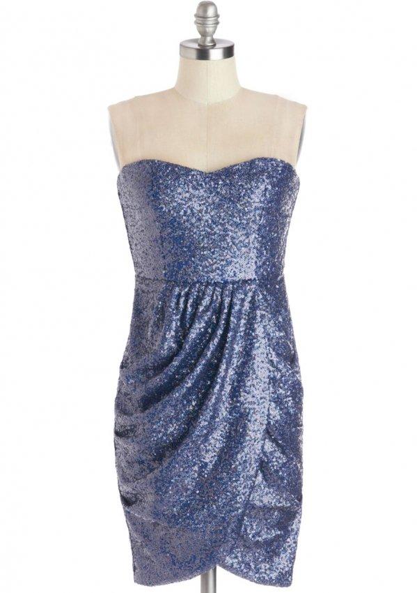 Sequin Cocktail Length Dress