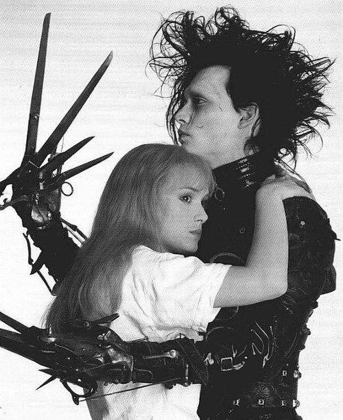 "Johnny Depp & Winona Ryder in ""Edward Scissorhands"""