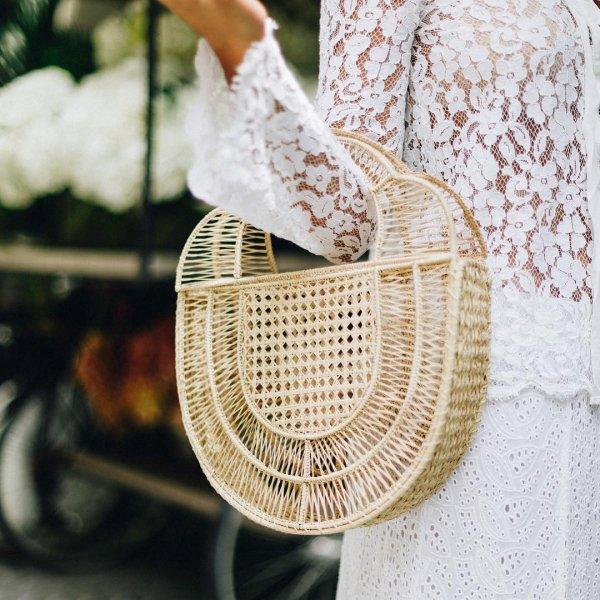 basket, wicker, product, lace, crochet,