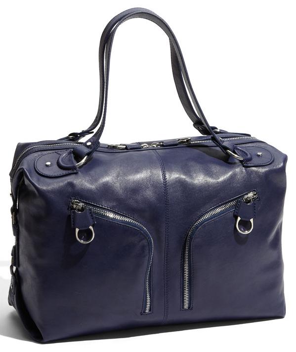 "Ted Baker ""Zips"" Leather Weekend Bag"