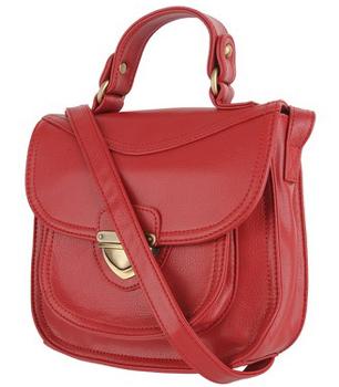 Forever21 Buckled Leatherette Handbag