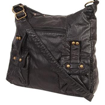 Forever21 Distressed Leatherette Handbag