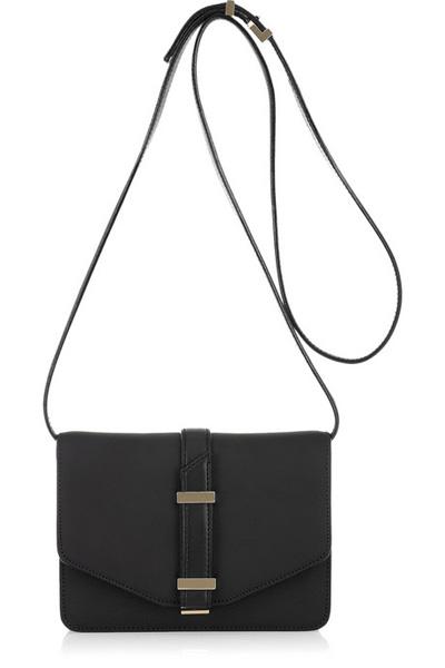 Mini Satchel Textured-Leather Shoulder Bag