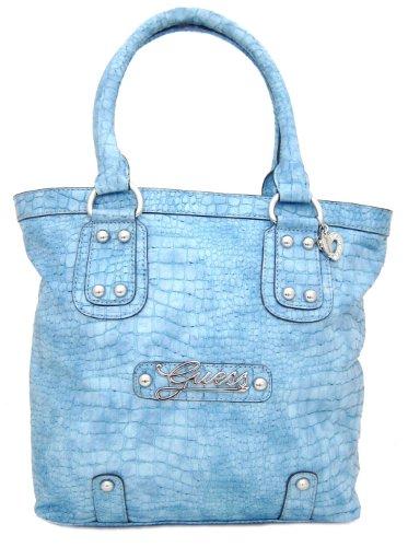 Guess Sundance Small Shopper Handbag Purse, Turquoise