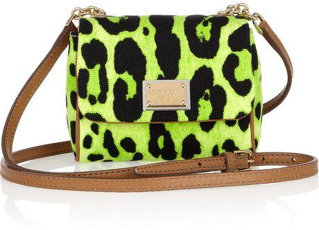 Dolce & Gabbana Printed Canvas & Leather Mini Shoulder Bag