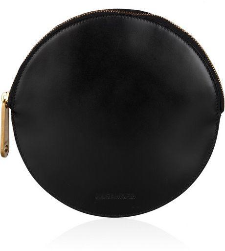 Jil Sander Circle Leather Clutch