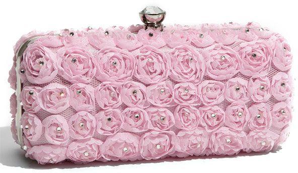 Tasha Rose Box Clutch