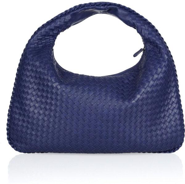 Large Veneta Intrecciato Leather Shoulder Bag