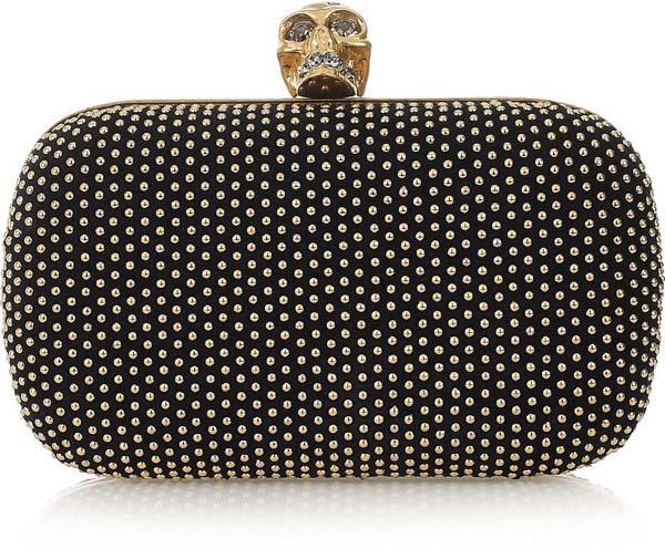 Glittering Gold Goth Handbags