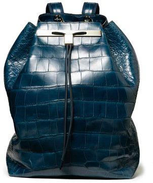Croc Print Backpack