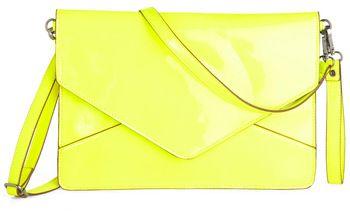 Neon Envelope Clutch
