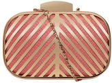 Coral Deco Bar Box Clutch