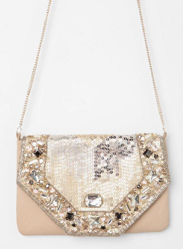 Kimchi Blue Art Deco Jewel Crossbody Bag
