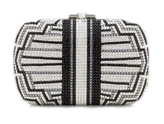 Judith Leiber Charleston Striped Clutch Bag