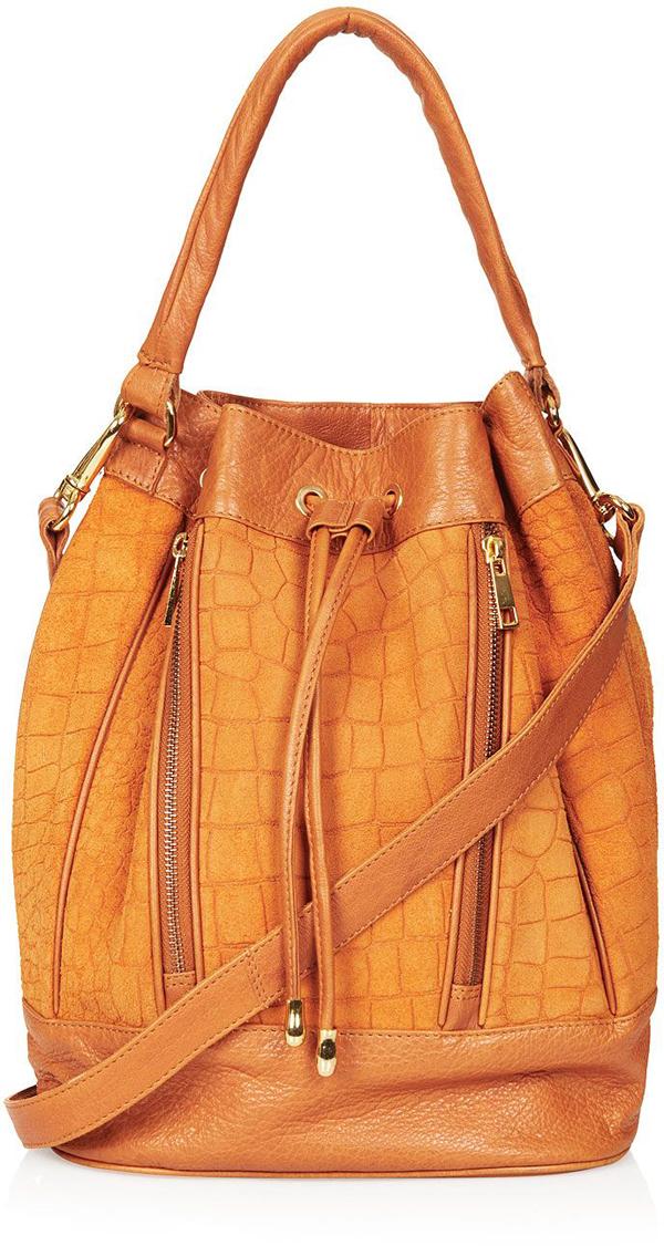 Croc Suede Bucket Bag