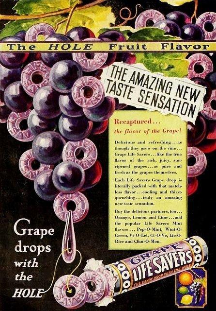 Grape Flavored Life Savers