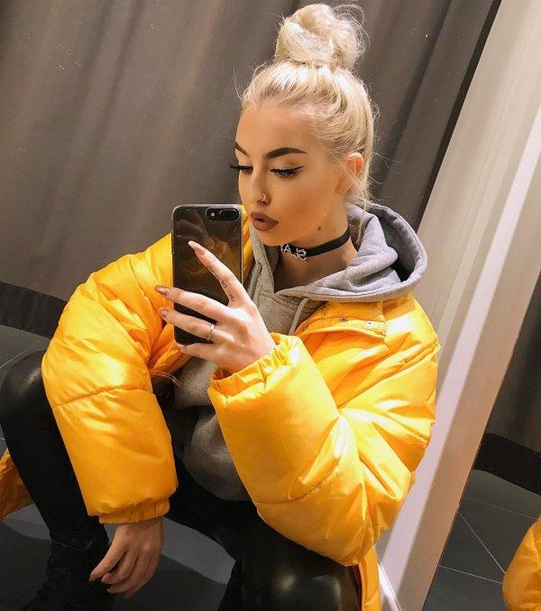 yellow, girl, product,