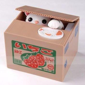 Stealing Cat Money Box