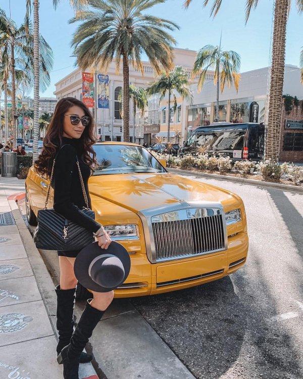 Luxury vehicle, Vehicle, Street fashion, Yellow, Car,