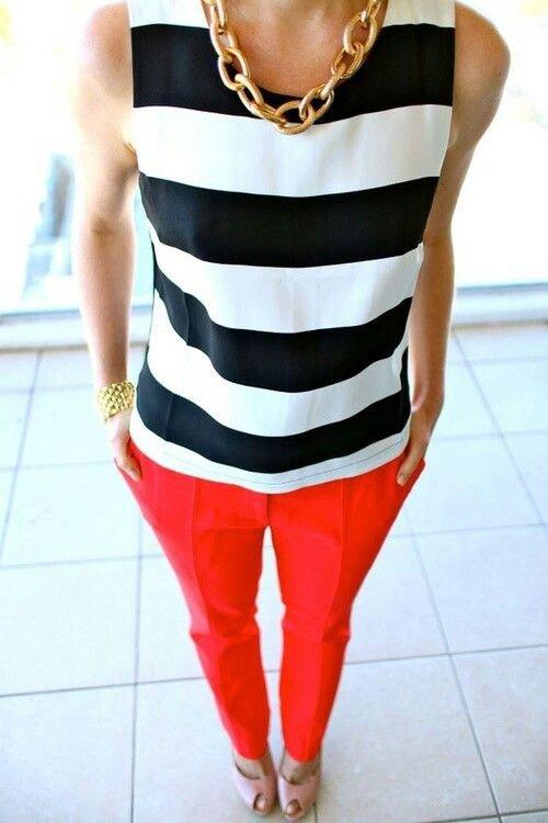 Wide Stripes, Bright Pants