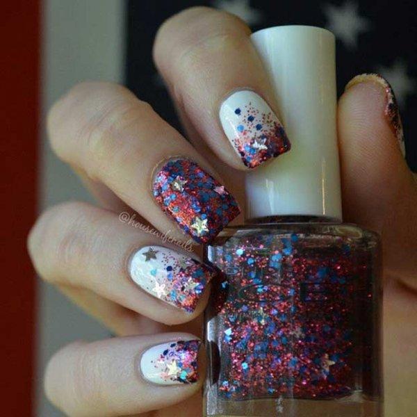 nail, color, finger, nail care, blue,