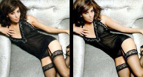 Eva Longoria = Boyish Figure